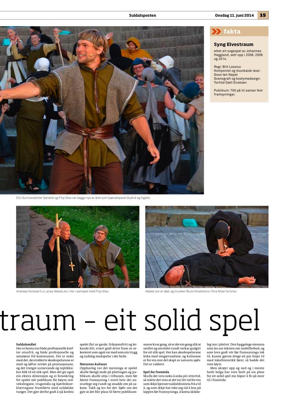 suldalsposten Syng Elvestraum 2014 s. 2