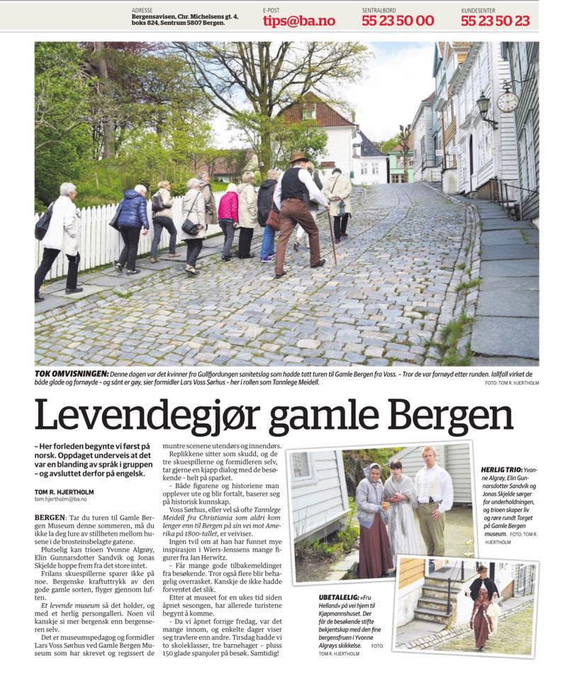 Gjør Gamle Bergen Museum levende